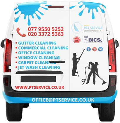 our window cleaning van